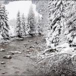 Зимний Ziller рядом с подъемниками Gerlos