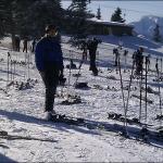 Мобилофото: Здесь были лыжники.. :)
