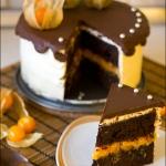 Шоколадно-апельсиновый торт с Гиннессом