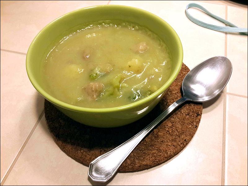 Суп-пюре из овощей с фрикадельками из индейки