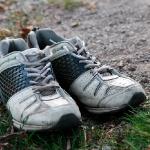 Папины боевые кроссовки после марафона :)