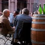 Винный бар на главной площади Фрайбурга