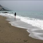 Хмурится. Пляж Akti Beach Hotel