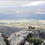 Псеримос и соленое озеро Аликес. Вид с тропы на вершину Dikeos