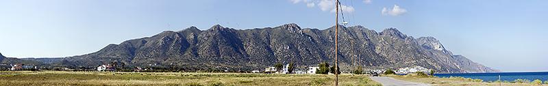 Кос. Панорама хребта Dikeos