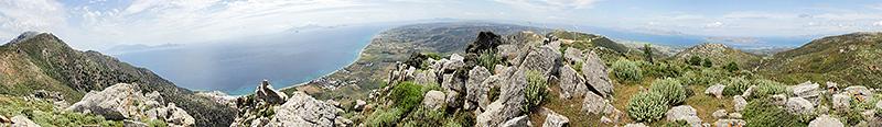 Кос. Панорама с хребта Dikeos