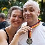 2011 год. Папа пробежал берлинский марафон!