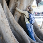 2012 год. У каждой девушки должна быть фотография в обнимку с деревом!