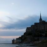 Mont Saint-Michel. Закат
