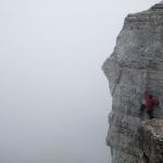 Утренний туман и ранние скалолазы